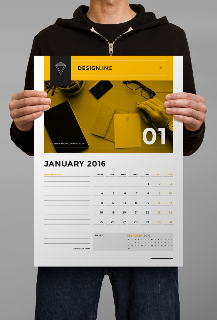 Corporate Calendar Design 2016 : Inspiration für das kalender design saxoprint