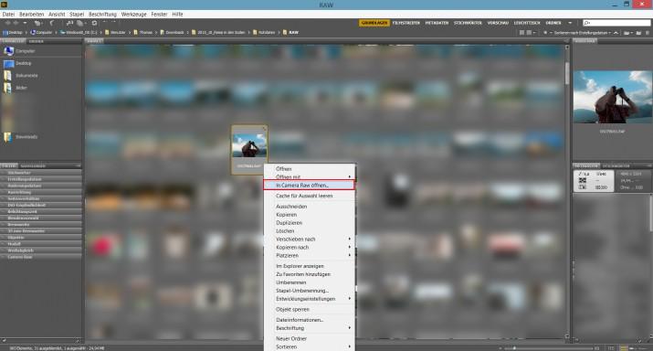 Mit Photoshop RAW Bilder und Dateien bearbeiten (5)