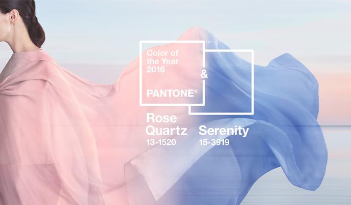 Die Pantone-Farben des Jahres: 'Rose Quartz' und 'Serenity'
