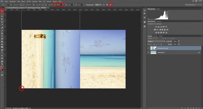 Abstrakte Landschaftsbilder für einen Landschaft Schaukasten verwenden (2)
