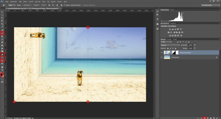 Abstrakte Landschaftsbilder für einen Landschaft Schaukasten verwenden (3)