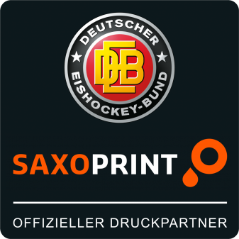 DEB SAXOPRINT Partnerlogo Deutscher Eishockey-Bund e.V.