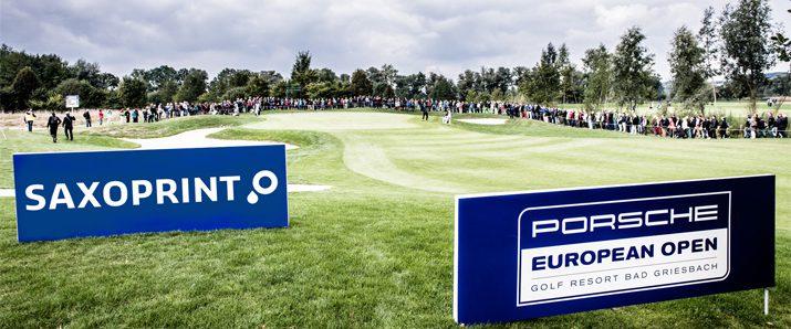 Porsche European Open – SAXOPRINT erstmals im Golfsport vertreten