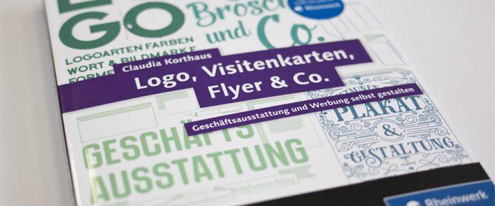 Buchverlosung Logo Visitenkarten Flyer Co