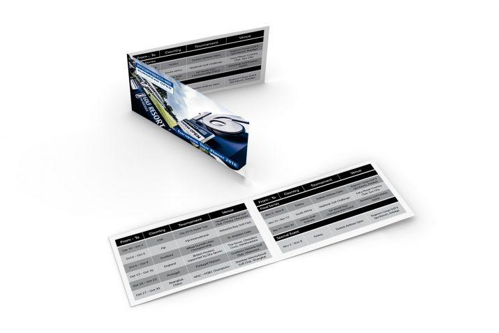 Taschenkalender der Porsche European Open 2016 im praktischen Scheckkarten-Format