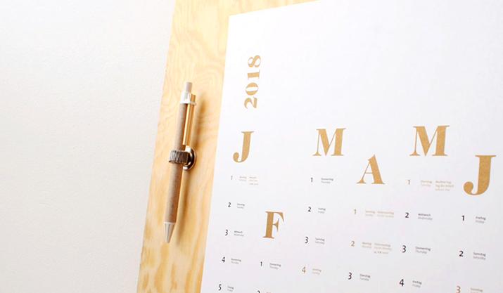 Diese Design-Kalender für 2018 solltet ihr nicht verpassen