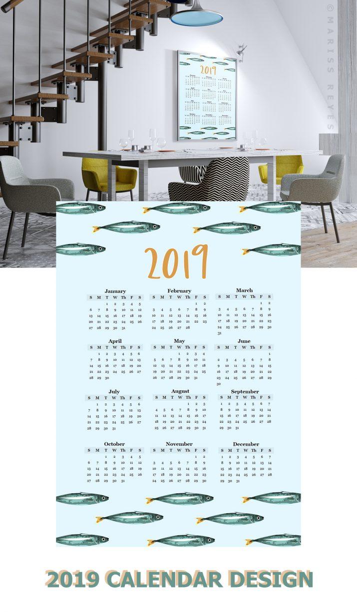 Inspiration für kreatives Kalender-Design 2019 (22)