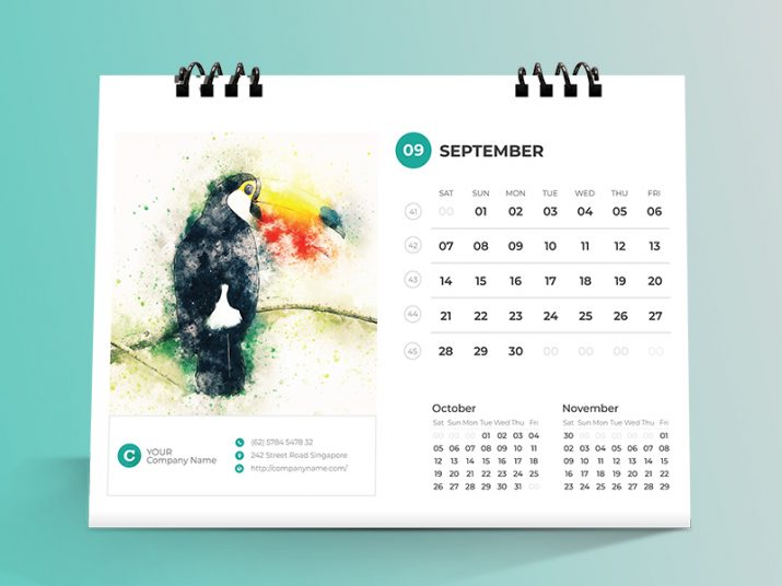 Inspiration für kreatives Kalender-Design 2019 (34)