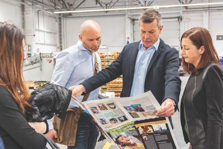 Top Magazin und Dresden Fernsehen bei SAXOPRINT (2)