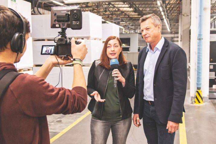 Top Magazin und Dresden Fernsehen bei SAXOPRINT (5)